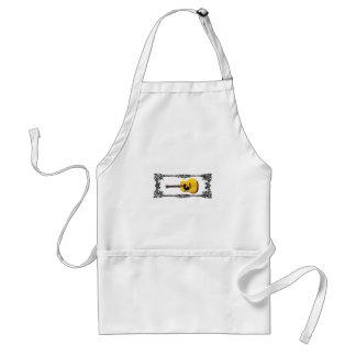 guitar yellow and tan standard apron