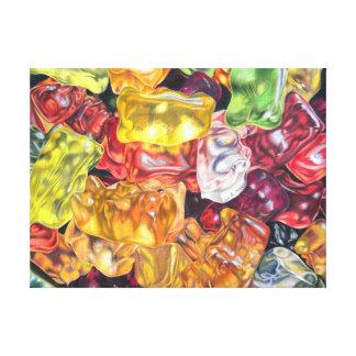 Gummibärchen - coloured pencil design gallery wrapped canvas