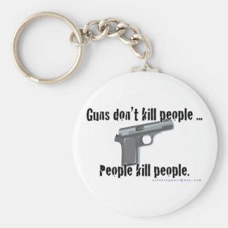 Guns Don't Kill Basic Round Button Key Ring