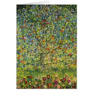 Gustav Klimt painting art nouveau The Apple Tree Greeting Card