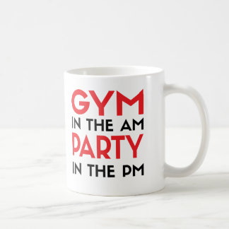 Gym In The AM Party In The PM Basic White Mug