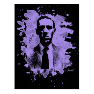 H.P. Lovecraft of tributes (violet) Postcard