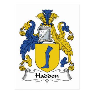 Haddon Family Crest Postcard