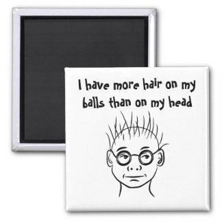 Hair Ball? Square Magnet