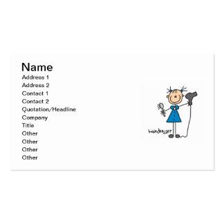 Hairdresser Stick Figure Pack Of Standard Business Cards