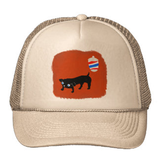 Hairdresser's black dog cap