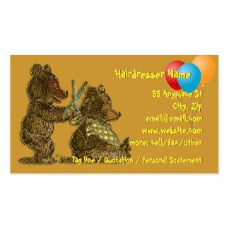 Hairdressing for Children business cards tempate