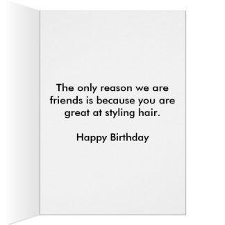 Hairstylist Birthday Card