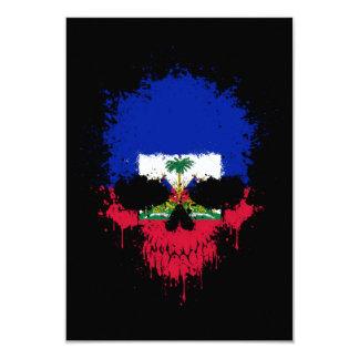 Haiti Dripping Splatter Skull 9 Cm X 13 Cm Invitation Card