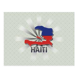 Haiti Flag Map 2.0 Postcard