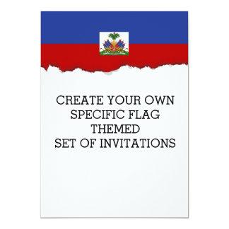 Haitian Flag 13 Cm X 18 Cm Invitation Card