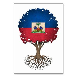 Haitian Flag Tree of Life Customizable Table Cards