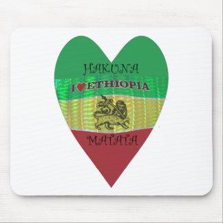 Hakuna Matata I love Ethiopia Colors.png Mouse Pad
