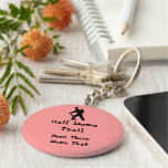 Half Dome Trail Basic Round Button Key Ring