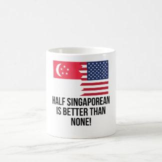 Half Singaporean Is Better Than None Morphing Mug