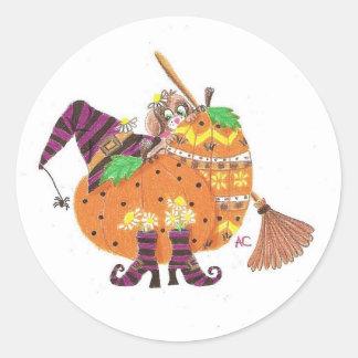 Halloween design wjite stickers