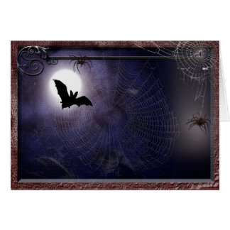 Halloween / Gothic full moon bat Template Greeting Card