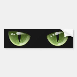 Halloween Green Cat Eyes Bumper Sticker