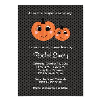 Halloween Little Girl Pumpkin Baby Shower 13 Cm X 18 Cm Invitation Card