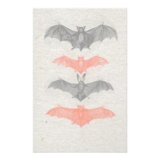 Halloween Orange Black Bats Vintage Gothic Party Customised Stationery