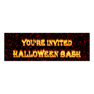 halloween party invites. pack of skinny business cards