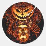Halloween Pumpkin King Round Sticker
