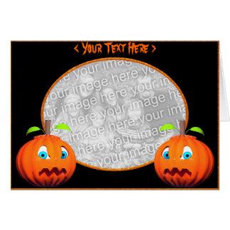 Halloween Pumpkin Stares (photo frame) Greeting Card