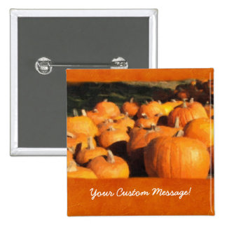 Halloween Pumpkins 4 15 Cm Square Badge