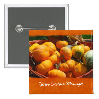 Halloween Thanksgiving Harvest 4 15 Cm Square Badge
