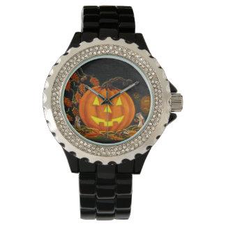 Halloween,watch,Jack-O-Lanterns,chipmunks,autumn Wristwatch