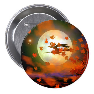 Halloween Witch Flight 7.5 Cm Round Badge
