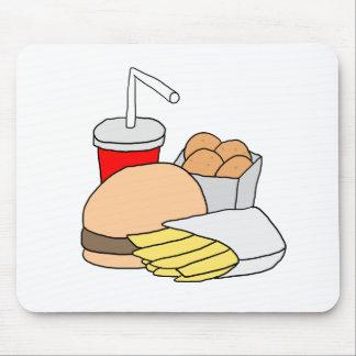 Hamburger, Fries, Chicken Nuggets and Soda Mouse Pad