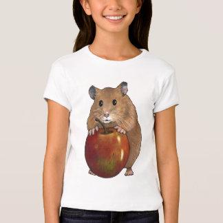 Hamster Holding Big Apple: Original Pastel Art T Shirts