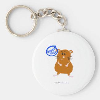 Hamster Inside Basic Round Button Key Ring