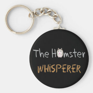 "Hamster Lover Gifts ""The Hamster Whisperer"" Basic Round Button Key Ring"