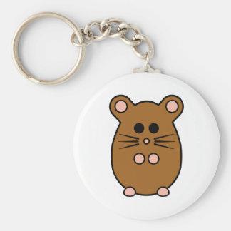 Hamster 'myham' keyring basic round button key ring