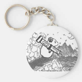 Hamster with an ATTITUDE Basic Round Button Key Ring