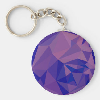 Han Purple Abstract Low Polygon Background Basic Round Button Key Ring