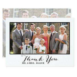 Hand Lettered Script | Wedding Photo Thank You 13 Cm X 18 Cm Invitation Card