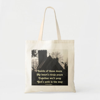 Handbag Poem Ode To Pray By Ladee Basset Budget Tote Bag