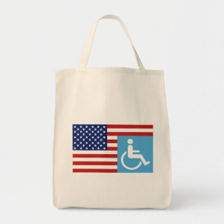 Handicapped Veteran Grocery Tote Bag