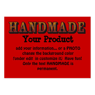 Handmade Pack Of Chubby Business Cards