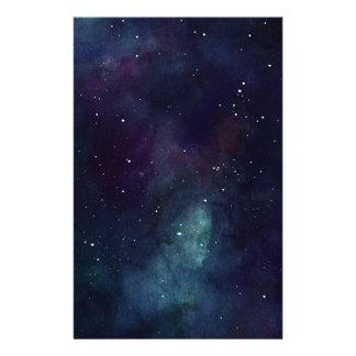 Handpainted Galaxy Custom Stationery