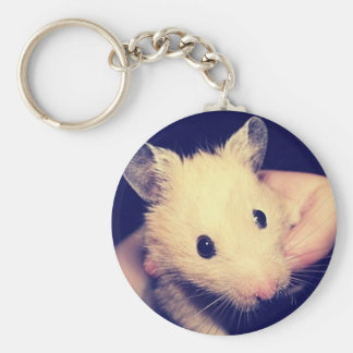 Handsome Hamster Basic Round Button Key Ring