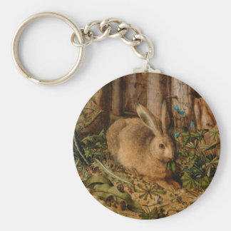 Hans Hoffmann A Hare In The Forest Basic Round Button Key Ring