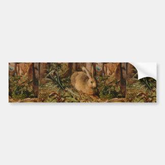 Hans Hoffmann A Hare In The Forest Bumper Sticker