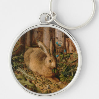 Hans Hoffmann A Hare In The Forest Silver-Colored Round Key Ring