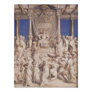 Hans Holbein Solomon and the Queen of Sheba Poster