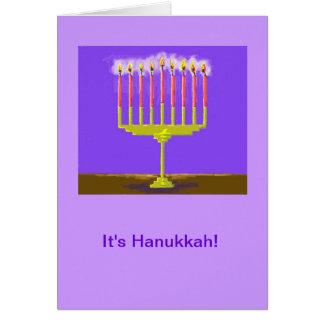 Hanukka Card with Very Bright Menorah