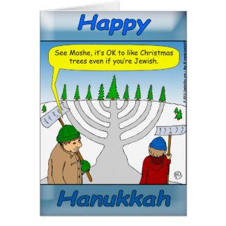 Hanukkah and Christmas holiday season Greeting Card